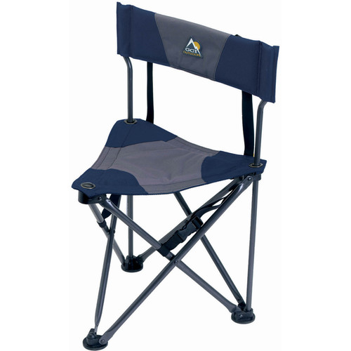 GCI Outdoor Quik-E-Seat Stool with Padded Backrest (Midnight)