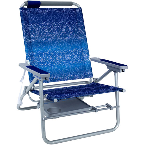 GCI Outdoor Big Surf with Slide Table Beach Chair (Waikiki with Nautical Blue Accent)