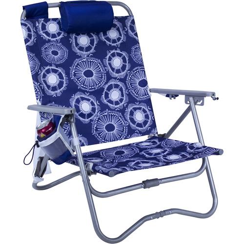 GCI Outdoor Bi-Fold Beach Chair ST (Bonsai Blue with Nautical Blue Accents)