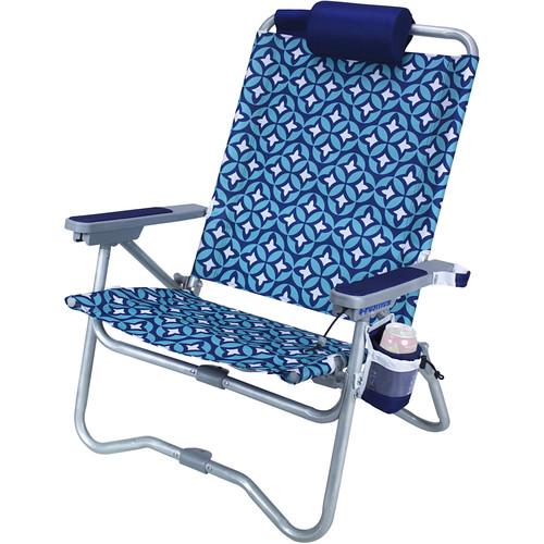 GCI Outdoor Bi-Fold Beach Chair (Laguna with Nautical Blue Accents)