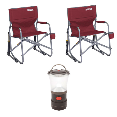 GCI Outdoor Freestyle Rocker (Cinnamon) and Water Bottle Kit