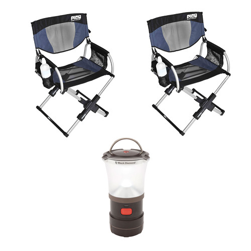 GCI Outdoor Pico Arm Chair Director's Chairs & LED Camp Lantern