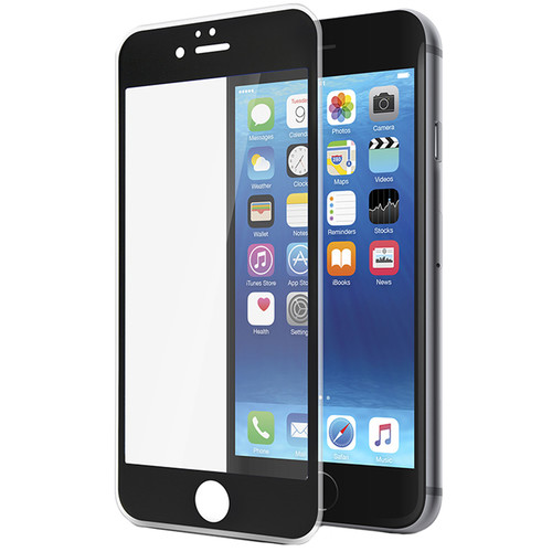 Gecko Gear Ultra-Tough Tempered Glass Screen Protector for iPhone 6/6s (Black)