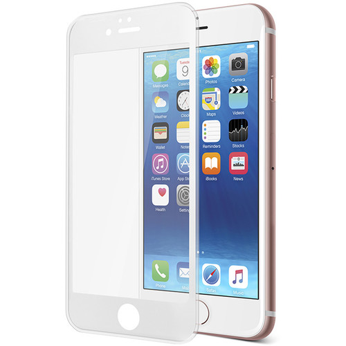 Gecko Gear Ultra-Tough Tempered Glass Screen Protector for iPhone 6/6s (White)