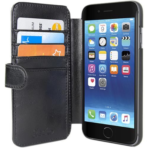 Gecko Gear Deluxe Wallet Case for iPhone 6/6s/7 (Black)