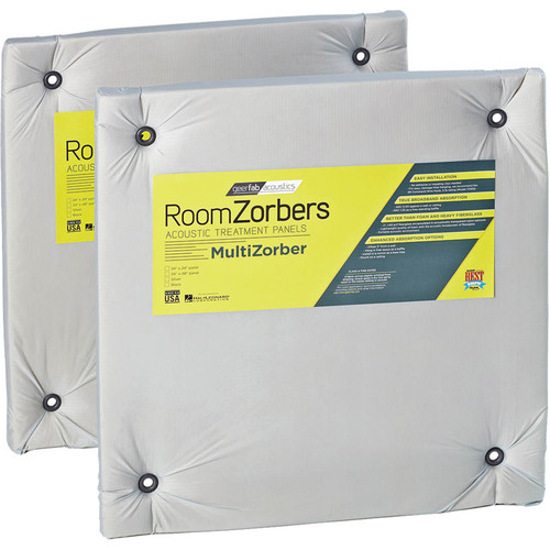 geerfab acoustics RoomZorbers MultiZorber 2424 Acoustic Treatment (Pair) (Silver)