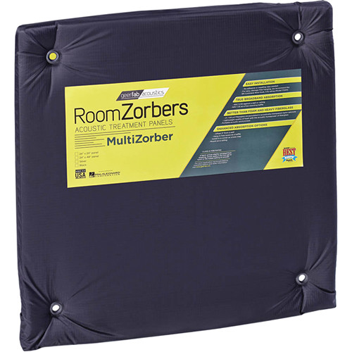 "geerfab acoustics RoomZorbers MultiZorber 24x24"" Acoustic Treatment Panels (12 pieces, Black)"