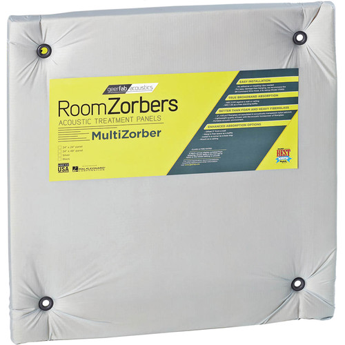 "geerfab acoustics RoomZorbers MultiZorber 24x24"" Acoustic Treatment Panels (12 pieces, Silver)"