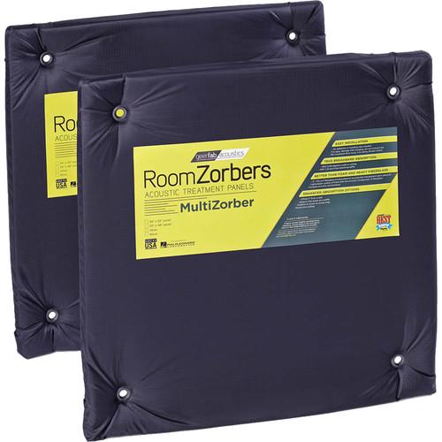 "geerfab acoustics MultiZorber 24 x 24"" Acoustic Panel (Pair, Black)"