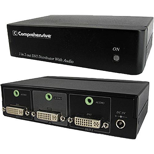 Comprehensive CDA-DVI102A DVI 1x2 Distribution Amplifier with Stereo Audio