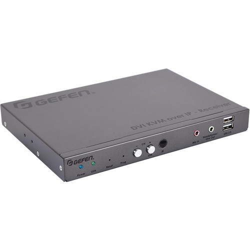 Gefen EXT-DVIKA-LANS-RX-UK DVI KVM over IP Receiver with Power Cord