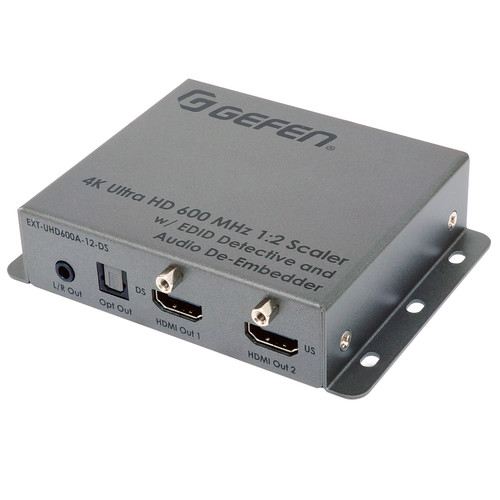 Gefen UHD 4K 600 MHz 1:2 Scaler with EDID Detective & Audio De-Embedder