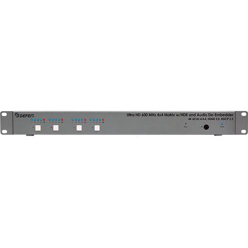 Gefen 4K Ultra HD 600 MHz 4x4 Matrix Switcher with Audio De-Embedder
