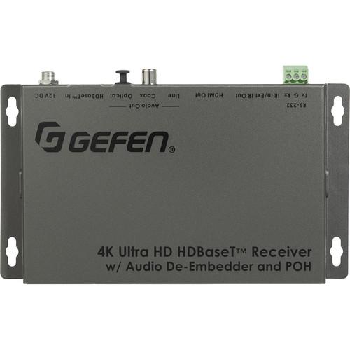 Gefen 4K HDBaseT Receiver with Audio De-Embedder and PoH