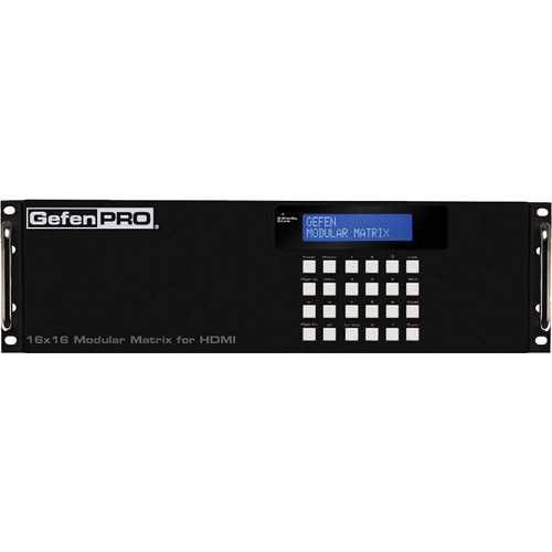 Gefen 16x16 Modular Matrix with 16 HDMI HDCP Inputs and 16 ELR-POL CAT5 Outputs