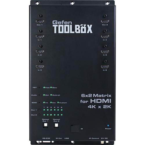 Gefen ToolBox 6x2 Matrix for HDMI 4K x 2K (Black)