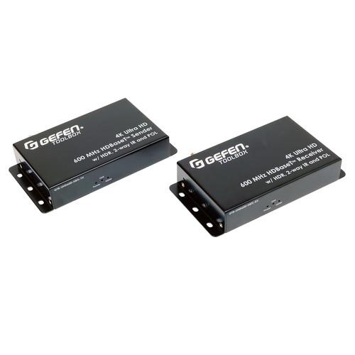 Gefen 4K Ultra HD 600 MHz HDBaseT Extender Set with HDR, 2-Way IR & PoL (132')