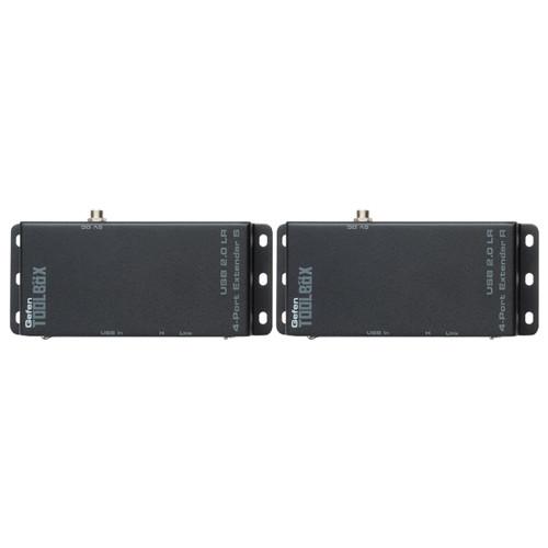 Gefen ToolBox USB 2.0 LR over Cat5 Four-Port Extender Set (Black)