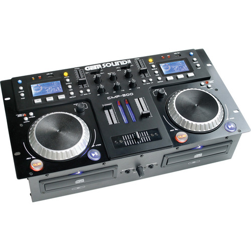Gem Sound CMP-500 - Dual CD, MP3, USB Player and Mixer