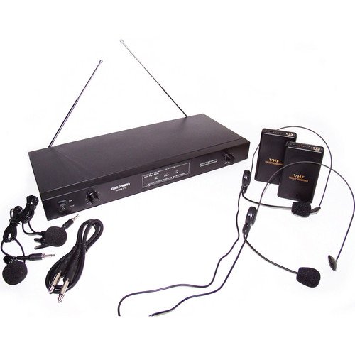 Gem Sound GMW-62 VHF Dual Wireless Lapel and Headset Microphone System