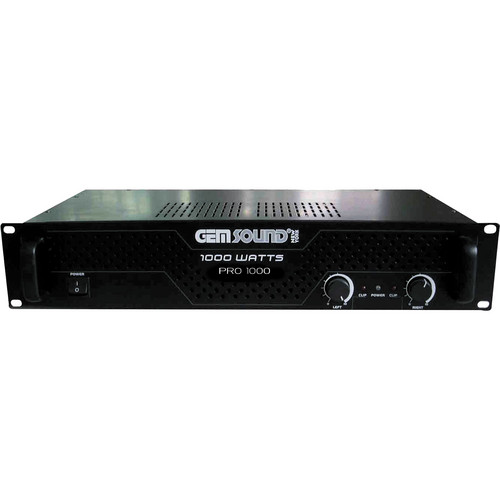 Gem Sound PRO1000 IPP 1000W Stereo Power Amplifier