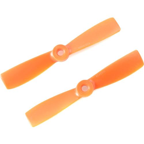"""Gemfan Glass Fiber Nylon Bullnose 4 x 4.5"""" Propeller (2-Pack, Orange)"""