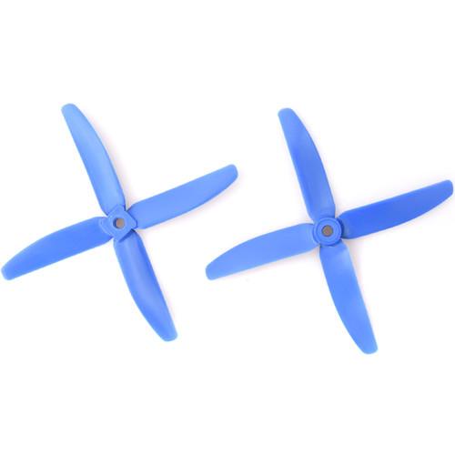 "Gemfan Glass Fiber Nylon 4-Blade 5 x 4"" Propeller (2-Pack, Dark Blue)"