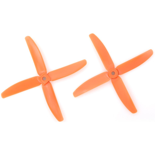 "Gemfan Glass Fiber Nylon 4-Blade 5 x 4"" Propeller (2-Pack, Orange)"