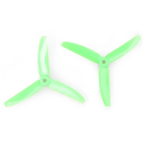 Gemfan Polycarbonate 3-Blade Propellers (2-Pack, Green)
