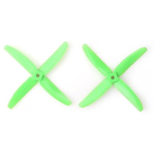 Gemfan Polycarbonate 4-Blade Propellers (2-Pack, Green)