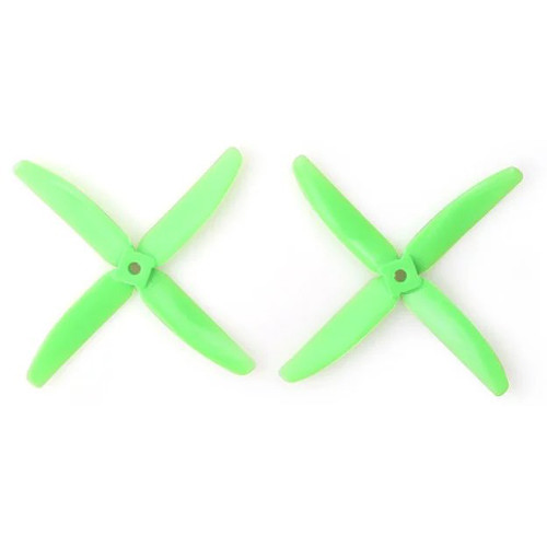 Gemfan Polycarbonate 4-Blade Propellers (2-Pack, Green)