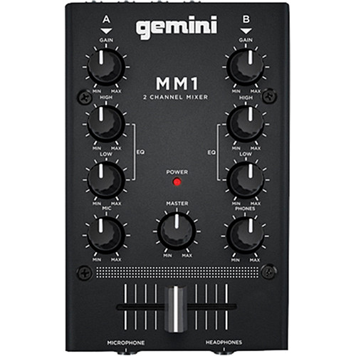 Gemini MM1 2-Channel Compact Mixer