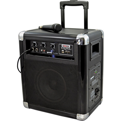 Gemini Play2Go Portable 2-Way PA Sound System with USB/SD/Bluetooth Playback