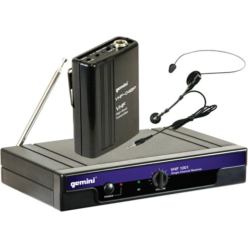 Gemini VHF-1001HL: Single-Channel Headset/Lavalier Combo Wireless System