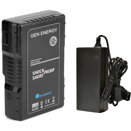 GEN ENERGY 1X 98Wh V-Mount Battery W/ Single Charger,    16.8V /  3.5A