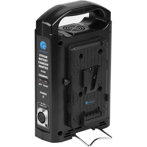 GEN ENERGY 2-Channel V-Mount Lithium-Ion Battery Charger