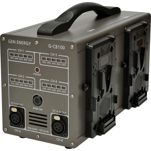 GEN ENERGY 4-Channel Simultaneous Charger and Power Station (6A)