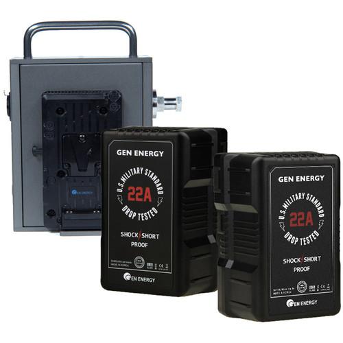 GEN ENERGY Full Power Solution with 2 Batteries for ARRI Skypanels