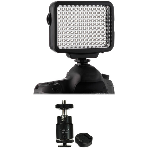 Genaray LED-5300 Dimmable Light & Multi-Function Ball Head Kit