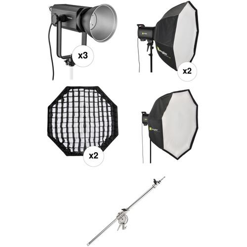 Genaray 3-Light LED Interview Kit