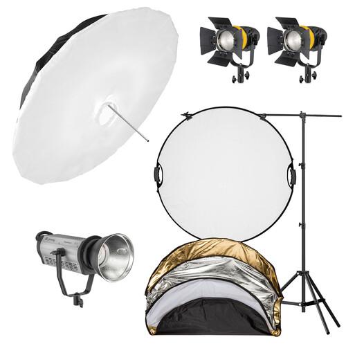 Genaray 3-Light LED Portrait Kit