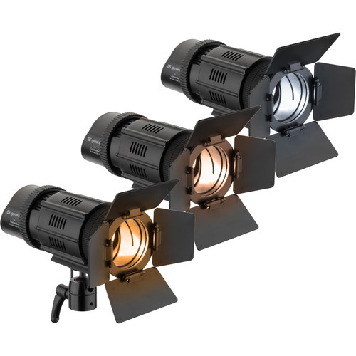 Genaray Contender LED Focusing Spot 3-Light Kit with Battery Module Kit (Bi-Color)