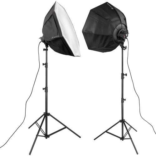Genaray SpectroLED-14 LED Flood 2-Light Softbox Kit