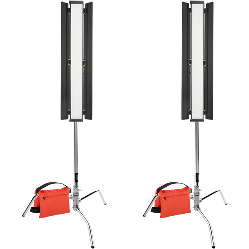 Genaray Key and Edge LED Pro Kit with C-Stands