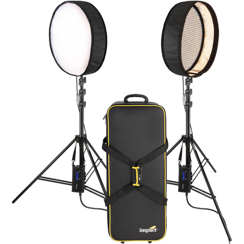 "Genaray PortaSun 20"" Round Flexible Bi-Color LED 2-Light Kit"