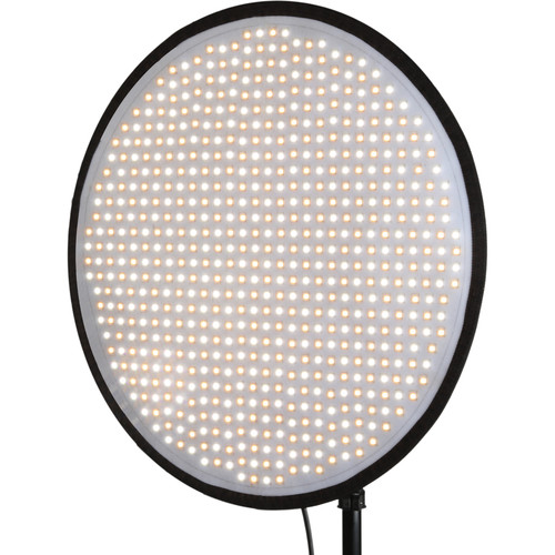"Genaray PortaSun Round Flexible Bi-Color LED Light with Softbox and Grid (20"")"