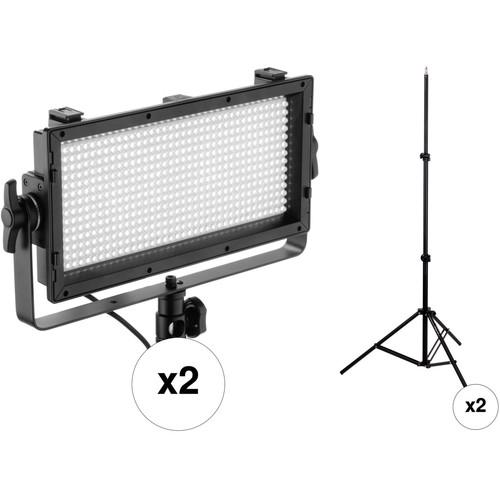 Genaray SpectroLED 500 Daylight LED 2-Light Kit with Stands