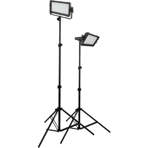 Genaray Spectroled Essential 500 Bi Color Led 2 Light Kit B Amp H