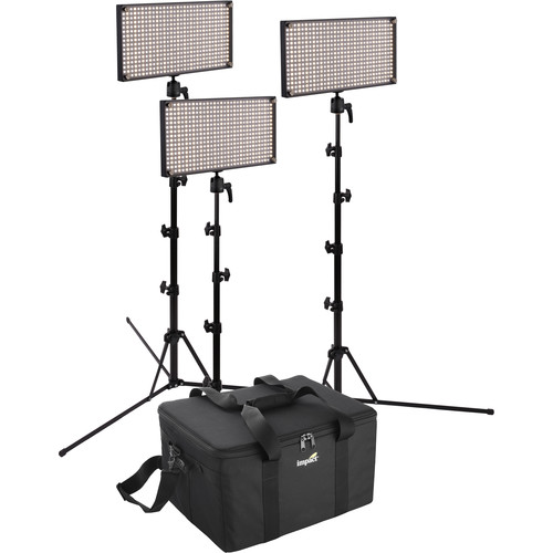 Genaray SpectroLED Outfit 500 Bi-Color LED Three Light Kit