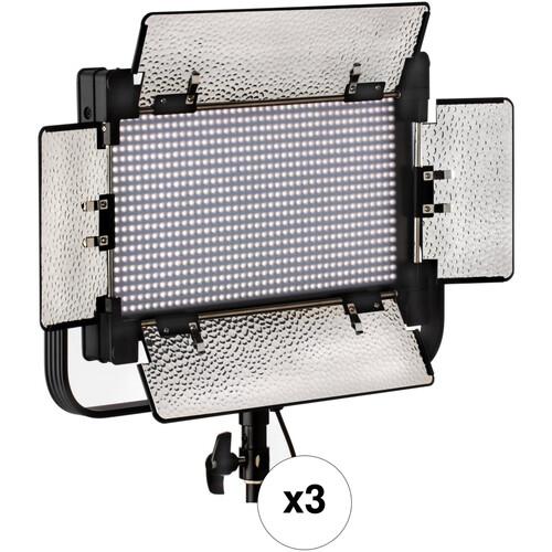 Genaray SpectroLED SP-S-800B Bi-Color Studio LED 3-Light Kit